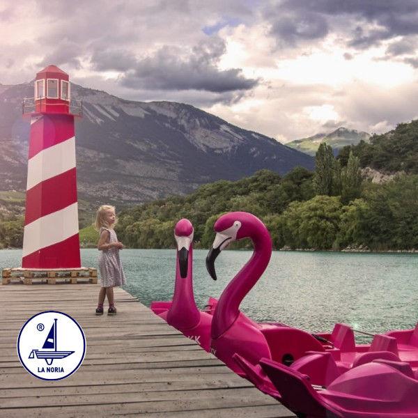Tretboot-Der große Flamingo